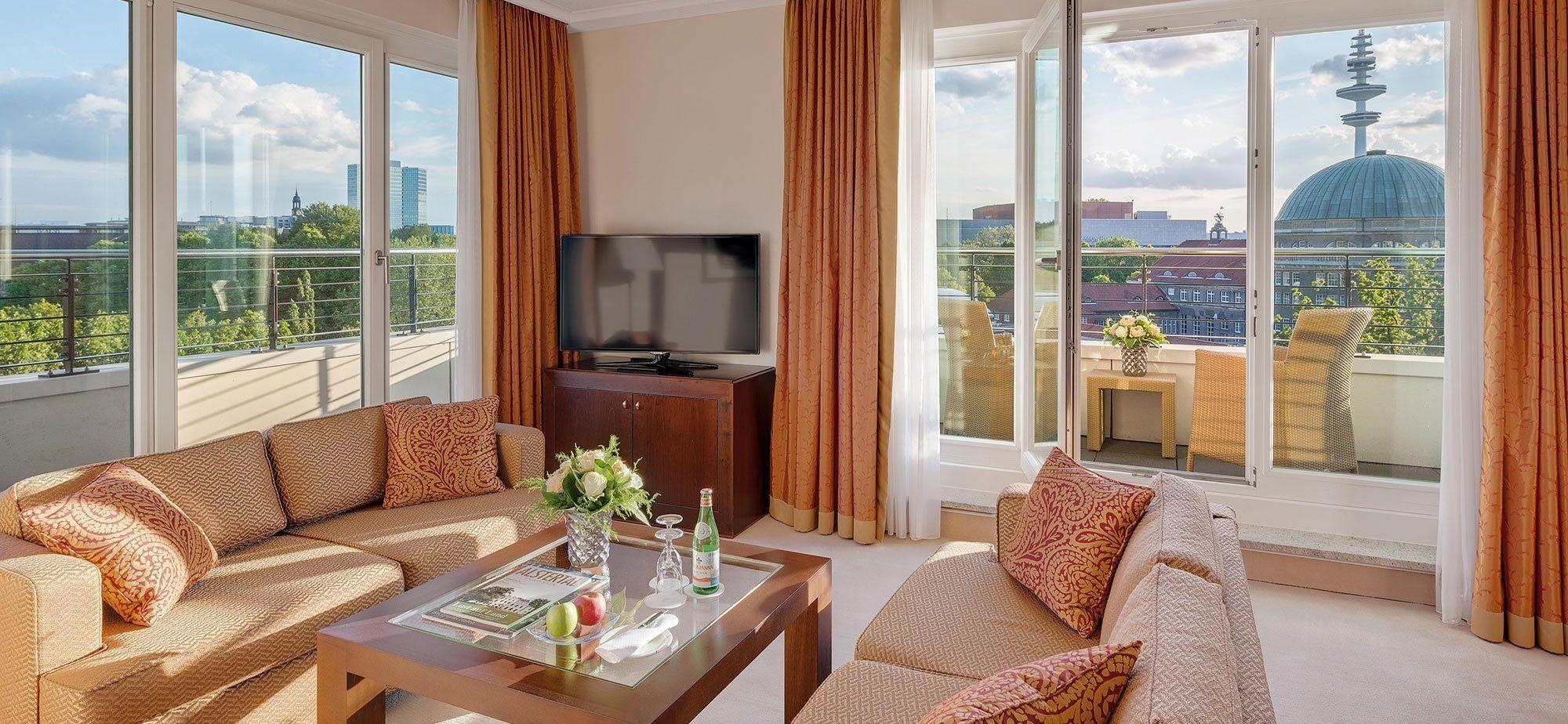 Penthouse Ecksuite Elysee Hotel Ag Hamburg